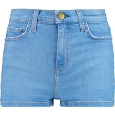 Current/Elliott The High Waist denim shorts (4,920 DOP) ❤ liked on Polyvore featuring shorts, blue, high-waisted shorts, high waisted shorts, blue shorts, jean shorts and high-rise shorts