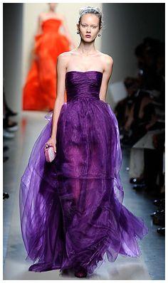 Dramatic Royal Purple Wedding Dress - http://casualweddingdresses.net/purple-wedding-dress-go-purplish-on-your-wedding-day-on-a-purple-wedding-dress/