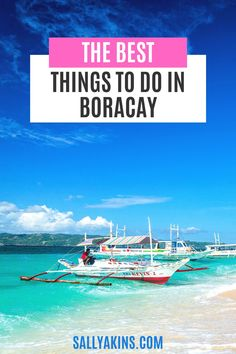 Are you dreaming of a fabulous vacation on the paradise island of Boracay in the Philippines? Here are some suggestions for the best things to do while you're there. From paraw sailing to indulging in a seafood paluto, you can make your holiday in Boracay as active or relaxing as you like! Click through to find out more about this dream holiday destination #Boracay #Philippines #Travel
