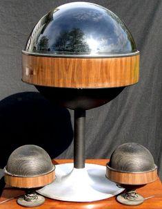 Bradford Modern Spaceship Style Stereo Radio/Phonograph, BRASS LANTERN ANTIQUES