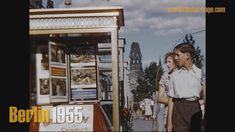 Berlin 1955 color - Brandenburger Tor ohne Quadriga - Ku´damm - Stadion ... Berlin, Travel Pictures, Germany, History, Vintage Films, Youtube, Color, Love, Brandenburg Gate