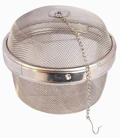 Eco-best(tm) 18/8 Stainless Steel Mesh Tea Ball Infuser,mesh Tea Strainer, Herb Infuser Giant Size 5 1/4 Inch -- Click image to review more details.