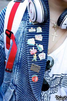 Vintage Pins in Harajuku