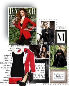 """Miranda Kerr for Harper's Bazaar UK August 2012"" by lenasupernatural ❤ liked on Polyvore"
