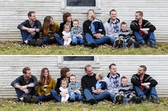 Extended family photography idea