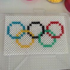 Olympic flag perler beads by perler_bead_ideas