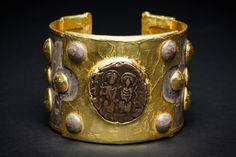 View 1: Cuff Bracelet with Coin of Justin II