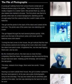 Creepypasta picture-story #9: Pile of Photographs - Horror/creepy short stories