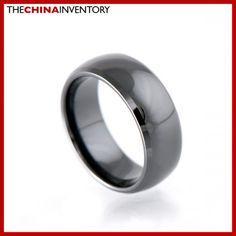 8MM SIZE 6 HI TECH BLACK CERAMIC WEDDING RING R1806