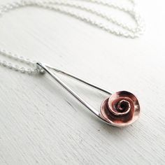 Hey, I found this really awesome Etsy listing at https://www.etsy.com/listing/100662198/rose-necklace-sterling-silver-copper