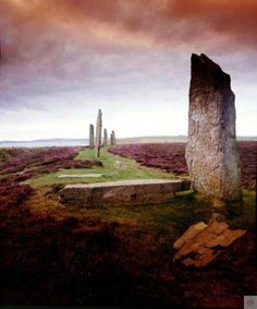 In legend the 27 standing stones in the Ring of Brodgar were dancing giants petrified by sunlight.