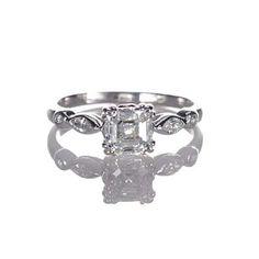 Leigh Jay Nacht Inc. - Replica Art Deco Engagement Ring - 1305-02 wedding-someday
