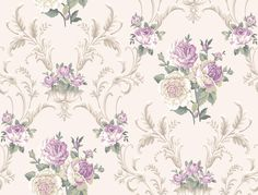 Floral Scrolling Wallpaper by York Wallpaper. Take an additional off all wallpaper and fabric! Wallpaper Stores, Fabric Wallpaper, Of Wallpaper, Pattern Wallpaper, Flowery Wallpaper, Tapestry Wallpaper, Luxury Wallpaper, Purple Flower Background, Background Vintage