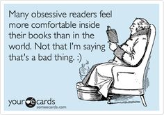 Many obsessive readers....
