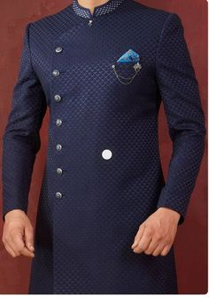 Sherwani - Huge collection of designer Sherwanis for men online. Buy the latest designer Sherwanis for wedding, engagement, and party with the best prices at Cbazaar. Latest African Wear For Men, Latest African Men Fashion, African Shirts For Men, Nigerian Men Fashion, African Dresses Men, African Attire For Men, Big Men Fashion, African Clothing For Men, Indian Men Fashion
