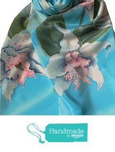Pañuelo de seda Orquideas de ARTEySEDA https://www.amazon.es/dp/B01N5D8QI3/ref=hnd_sw_r_pi_dp_iYNBybP5GMXZJ #handmadeatamazon
