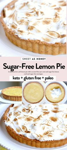 Sugar free lemon pie esy low carb keto recipe with coconut flour crust lowcarb keto sugarfree pie lemonpie ketodesserts lowcarbdesserts ketobaking lowcarbbaking freezer lemon pie Sugar Free Desserts, Sugar Free Recipes, Lemon Desserts, Low Carb Desserts, Low Carb Recipes, Diabetic Desserts Sugar Free Low Carb, Apple Desserts, Coconut Flour Pie Crust, Coconut Flour Recipes