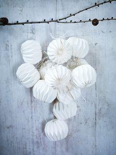 Fluted paper light garland.