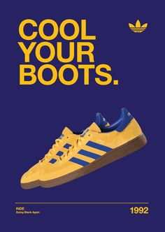 Adidas Spezial Originals Ride 'Cool Your Boots' Artwork Trainers Adidas Og, Adidas Retro, Adidas Sneakers, Adidas Spezial, Sneaker Posters, Sergio Tacchini, Casual Art, Football Casuals, Sneaker Art