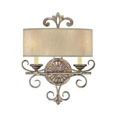 Wall Sconce Lamp Lighting Fixture 2 Light Bedroom Living Room Powder Room  #Unbranded #Traditional