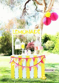 Sunshine and Lemonade themed birthday party with So Many Adorable Ideas via Kara's Party Ideas! Full of decorating tips, ideas, recipes, favors, cakes, games, and MORE! KarasPartyIdeas.com #sunshineparty #sunshine #lemonadestand #sunparty #partydesigner #partyideas #partydecor (25)