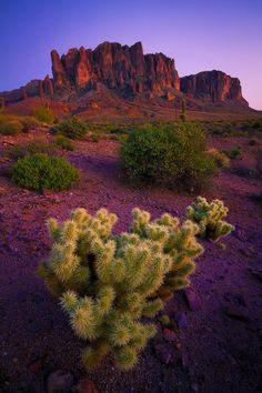 At Purple Dusk Superstition Mountains Phoenix, Arizona United States 12/11/2014 National Mountain Day!