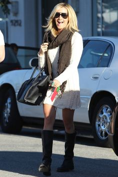 I love Ashley Tisdale's laid-back style. She always looks put together!