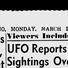 UFOs in History...1966...UFOs Seen in Multiple States.
