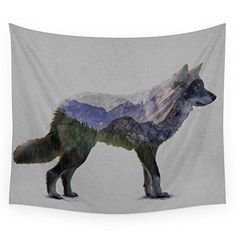 Society6 The Rocky Mountain Gray Wolf Wall Tapestry Small…