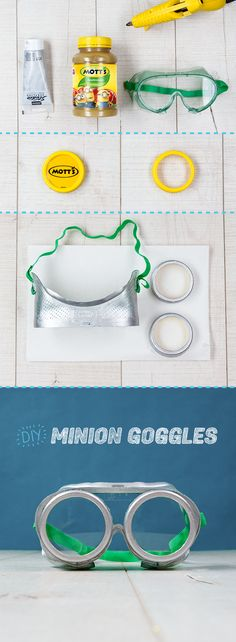 Make your own Minion goggles! This fun, DIY craft will be a hit with the kids. It's easy and makes a great party activity to keep your minions busy. See the full instructions at motts.com.