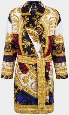 Versace Silk I ♡ Baroque Bathrobe for Women