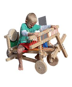 Someday I will get this for my daughter to encourage engineering and because how cool is it to build your own toy? Woodmobiel Standard Kit