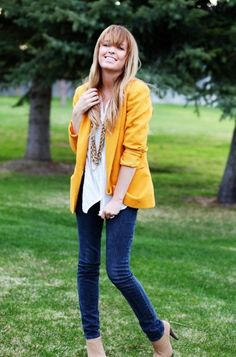 Let Them Eat (Cup)Cake: Bright-Colored Blazers & How to Wear Them