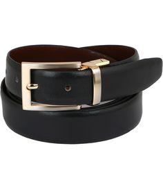 Vinson Massif Black And Brown Eterno Reversible Leather Belt
