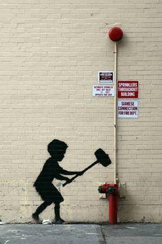 Banksy's Graffiti, Animated Banksy Graffiti, Banksy Posters, Street Art Graffiti, Bansky, Banksy Artist, Banksy Paintings, Banksy Canvas Prints, Broadway Nyc, Framed Wall Art