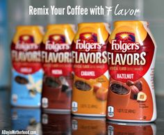 Enhance Your Morning With Folgers Flavors (Want to WIN 2 Folgers Flavors canisters? Giveaway Open to US Residents, only. Giveaway ends Snack Recipes, Snacks, Most Popular Recipes, Canisters, Giveaways, Caramel, Chips, Group, Food