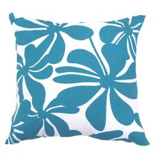Blue Pillow Cover Turquoise Pillow Cover Floral by AnyarwotDesigns, $17.00