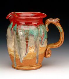 Beautiful glaze on this jug- love the colours.