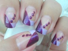 I Love Purple Dots by Linda165 - Nail Art Gallery nailartgallery.nailsmag.com by Nails Magazine www.nailsmag.com #nailart
