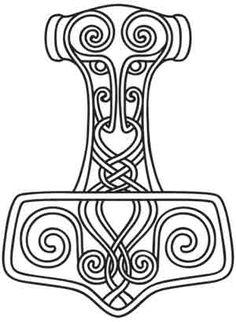 Thors Hammer design (UTH2424) from UrbanThreads.com
