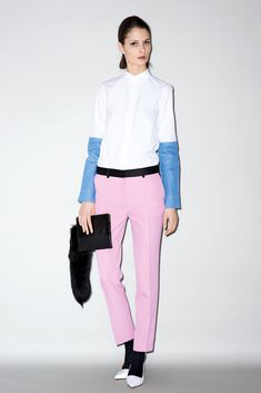 CELINE / Shop the latest collections on the official online store : handbags, small leather goods, jewellery and sunglasses. Celine, Crombie Coat, T Magazine, Black Socks, Pink Pants, Fashion Socks, Collar And Cuff, Barneys New York, Boys Shirts
