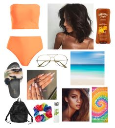 """""""Beach days"""" by fucklaurzz ❤ liked on Polyvore featuring Qupid, Colortone, Hawaiian Tropic, Monki, blomus and Forever 21"""