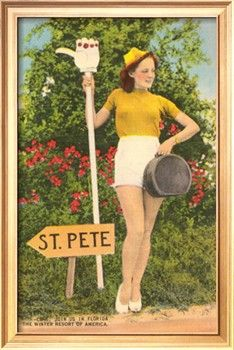 Hitching to St. Pete, Florida Giclee Print at Art.com