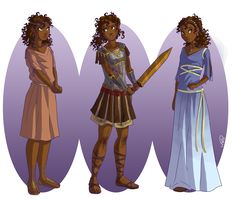 Hazel in Ancient Greek clothes. She is so pretty :)