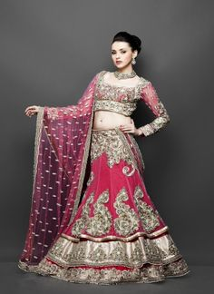 Beauteous Pink Lehenga With Embroidery Work