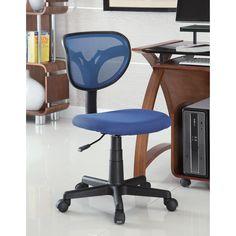 Venetian Worldwide Palmer Office Chair in Blue Mesh