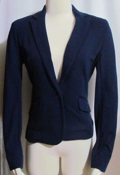 NEW Womens Ladies Petite JONES NEW YORK Blue Cotton Jacket Blazer 6P Orig $109 #JonesNewYork #Blazer