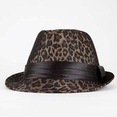 Leopard Womens Fedora. Definitely Me!!! Roarrrrr <3