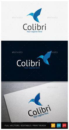 One Day logo sale on graphicriver #logodesign #colibri #bird #cybermonday #sale #logo #logotemplate #freedom #sp