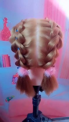 # short Braids with curls Hairstyle Tutorial 278 Lil Girl Hairstyles, Braided Hairstyles, Toddler Hairstyles, Medium Hair Styles, Natural Hair Styles, Short Hair Styles, Girl Hair Dos, Hair Upstyles, Crazy Hair